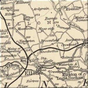 Bartholomew Map of Ellon 1912 (detailed)