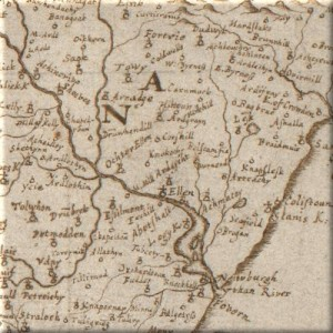 Gordon Map of Ellon 1640 (detailed)