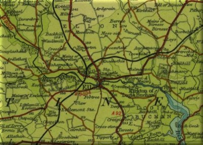 Bartholomew Map of Ellon 1933