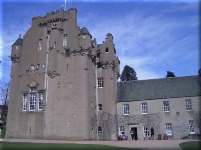 Fyvie Castle Courtyard