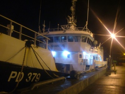 Peterhead Harbour Night Trawler