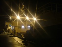 Peterhead Harbour Trawler at Night